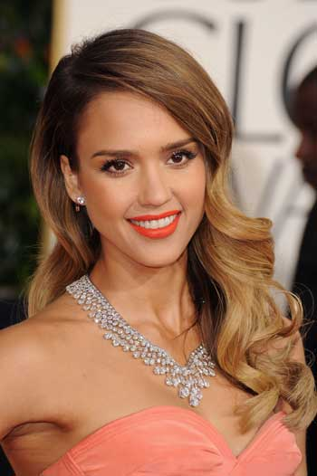 jessica alba orange lips Summer Makeup Trends 2013