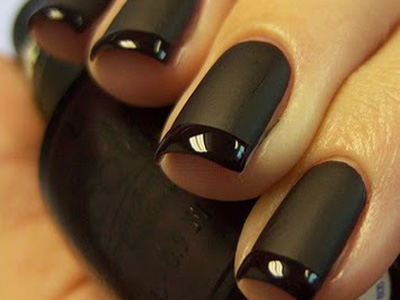 matte black nails vancouver